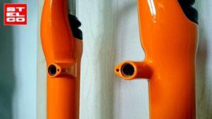 Widelec rower lakierowaby proszkowo