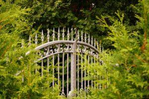 malowane proszkowo ogrodzenie