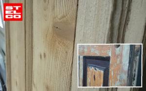 Drzwi drewniane lakierowana proszkowo